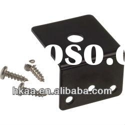 black steel angle corner bracket, black steel bracket