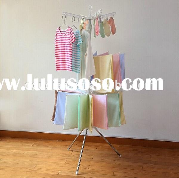 portable rotating clothes hanger rack/indoor clothes drying racK