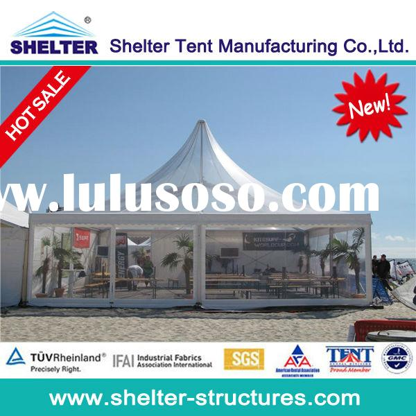 10x10m pagoda transparent pvc tents,canopies marquee,clearance span tents for sale