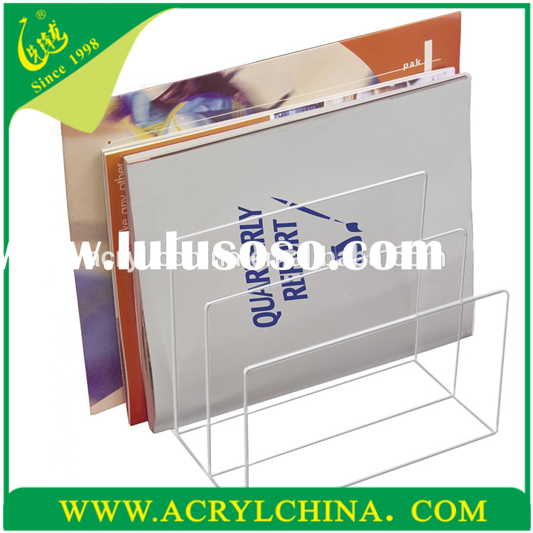2015 new product custom made clear Acrylic File Sorter , clear acrylic desk accessories wholesale