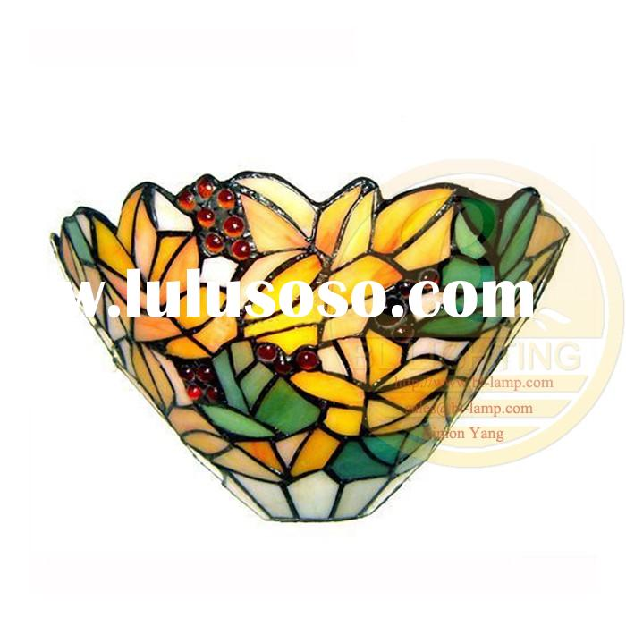 20 years experience in Antique stained glass wall lamp for office,sell best wall stained glass lamp
