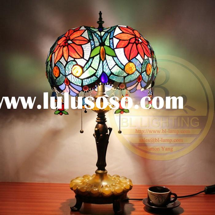 20 years experience in Hotel project desk stained glass lamp for working,cheap stained glass desk la