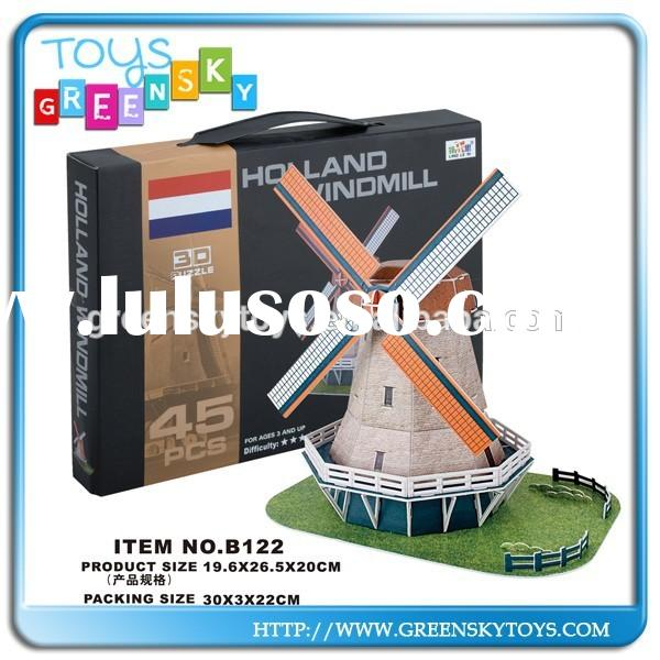 3d paper building puzzle the Dutch windmills the netherlands windmill
