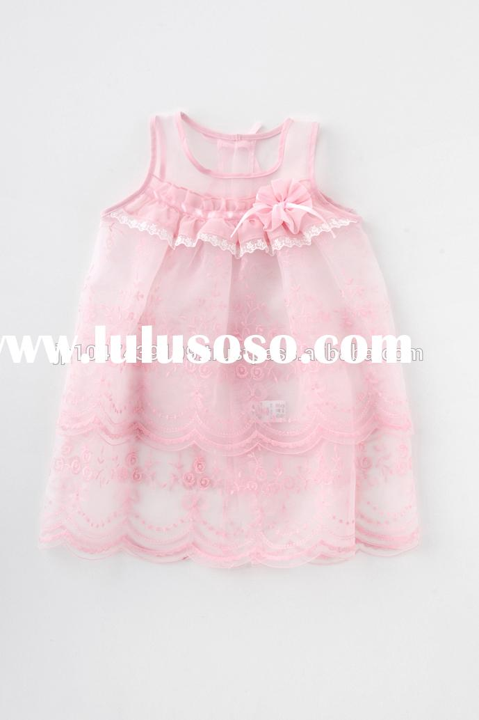 Japan wholesale high quality cute frill and lace baby frock designs fancy birthday dress for girl