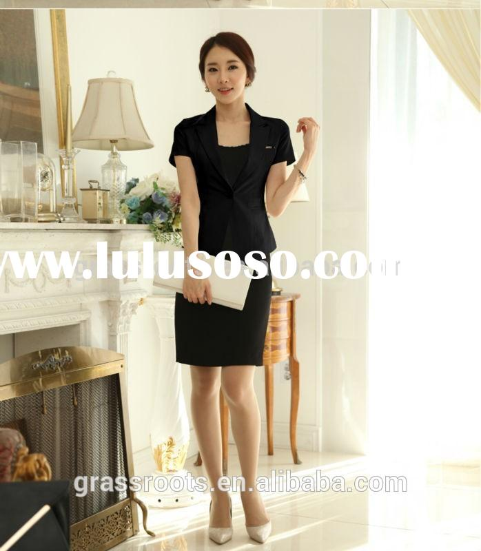 Ladies Business Suit ,2015 new style office uniform designs for womans /office uniform designs for w