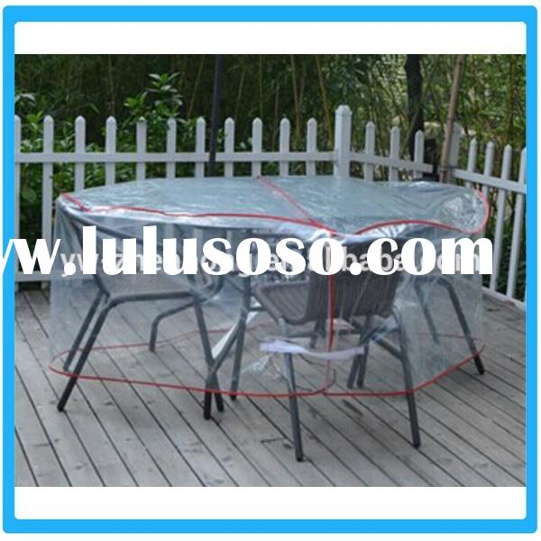 Outdoor Tables And Chairs Dust Cover/Plastic Garden Tables Cover