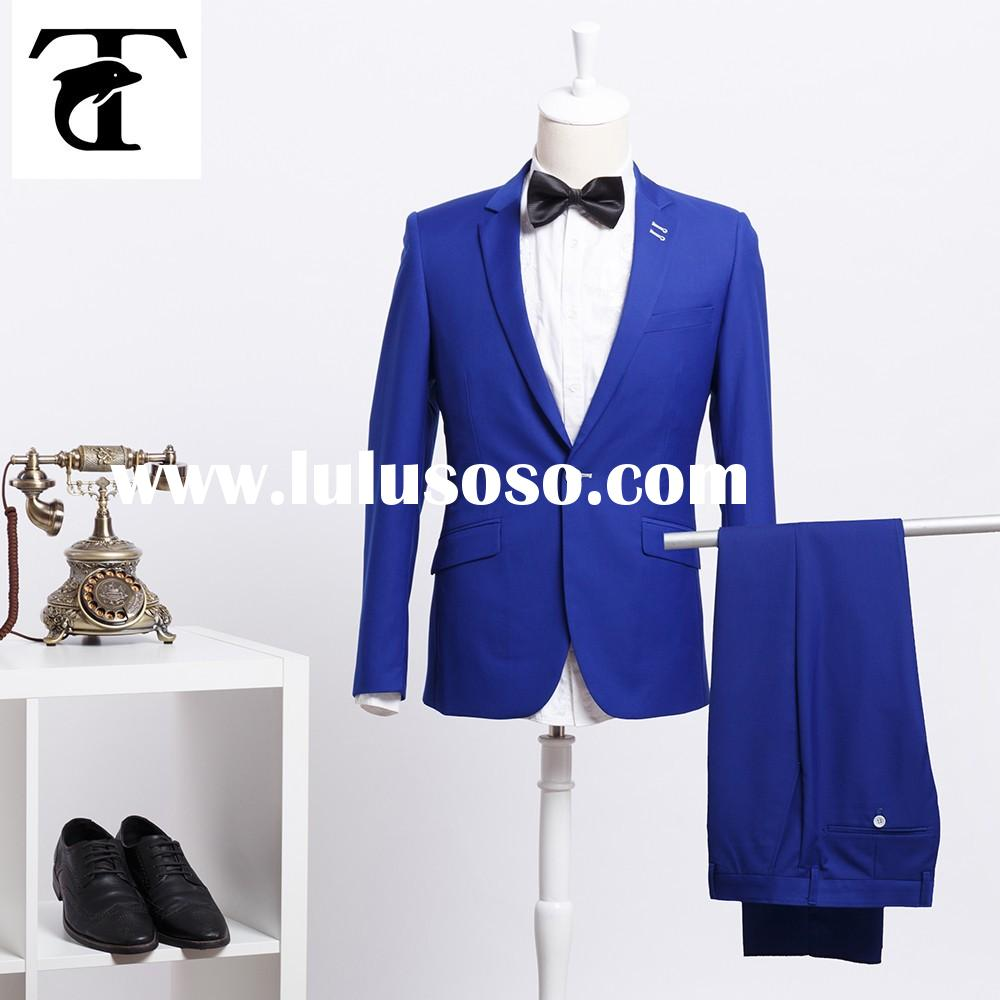 Tailored Men's Wear Tuxedos Wedding Suits For Men Blue Two Buttons Formal Men Suits With Jac