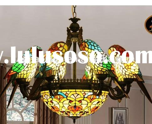 china tiffany stained glass antique hanging lamp shades with birds