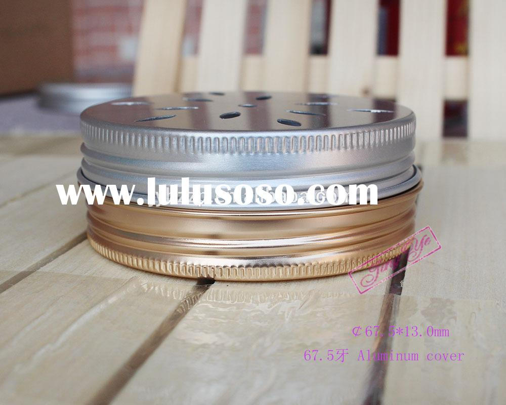 metal aluminum daisy cut shaker cap lid with hole hollow for mason jar bottle