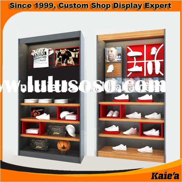 new business shoe stand rack, wooden shoes display rack and stand,metal shoe store display rack