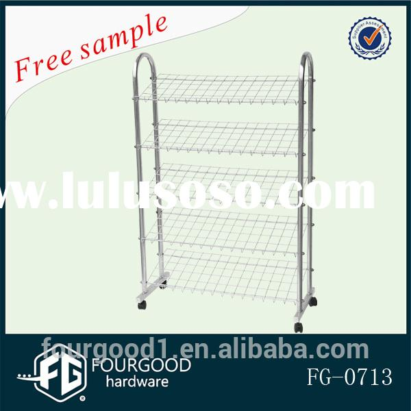 supermarket metal wire display stand for shoes