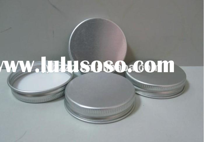 thread aluminum cap with PE liner for amber glass bottle,salt and pepper bottle caps