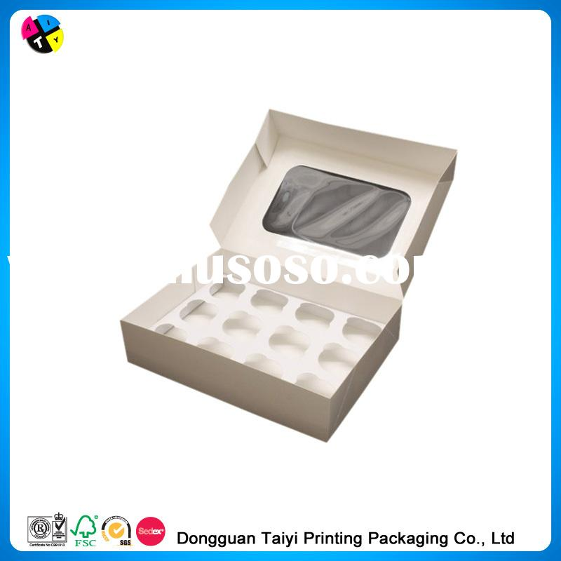 2014 Cheap printing cupcake containers wholesale
