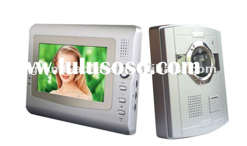 7 Inch Monotor Building Intercom System with Auto-recording Function,video door phone for home secur