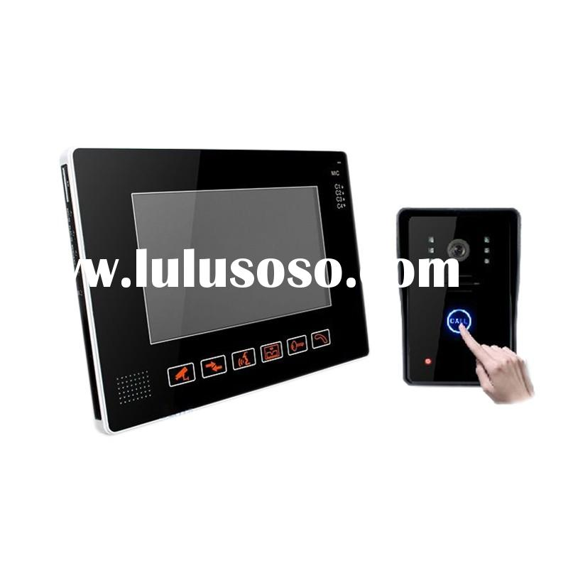 Best price!! 9inch color TFT LCD 5 RFID keys Shenzhen home security video door phone system