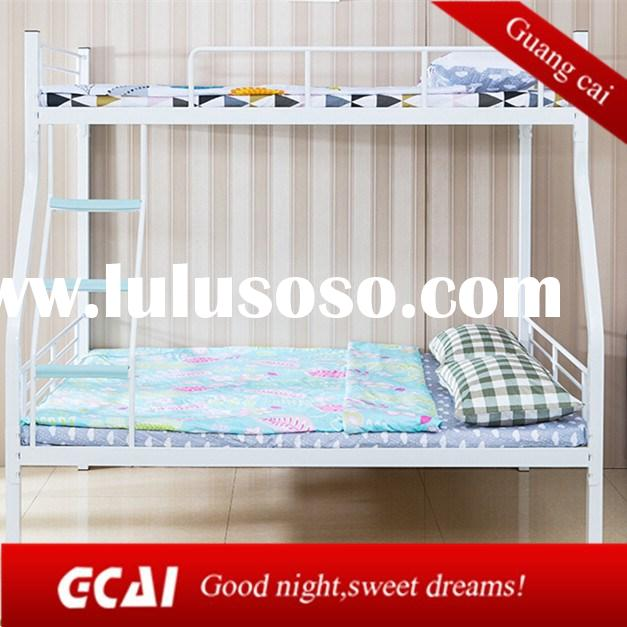Big size 3 people living double deck cheap metal queen bed frame