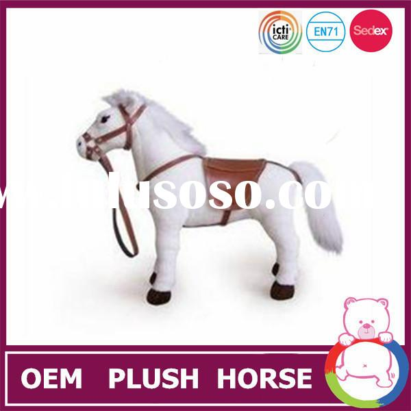 Cheap price white plush lovely horse pony big head