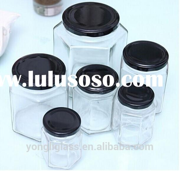 Clear Juice Glass Bottles With Screw Lid,honey glass jar mason glass fruit jam jar wholesale