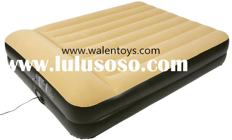 Comfort Full Size Flock Raised Air Mattress/Raised Waterproof Downy Queen Air Mattress with pump
