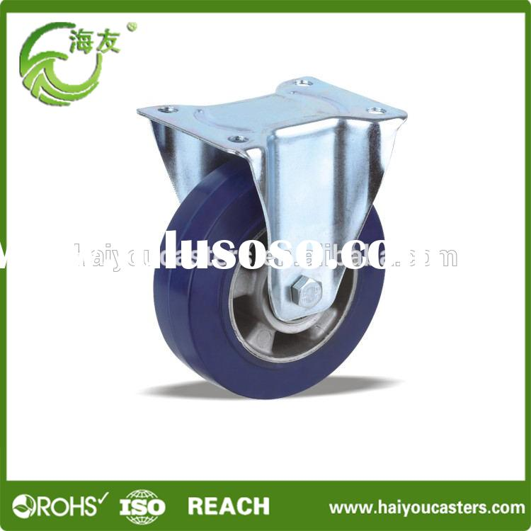 High Quality Wheel For 150mm Rubber Locking Castor Wheel Industrial Caster Wheel