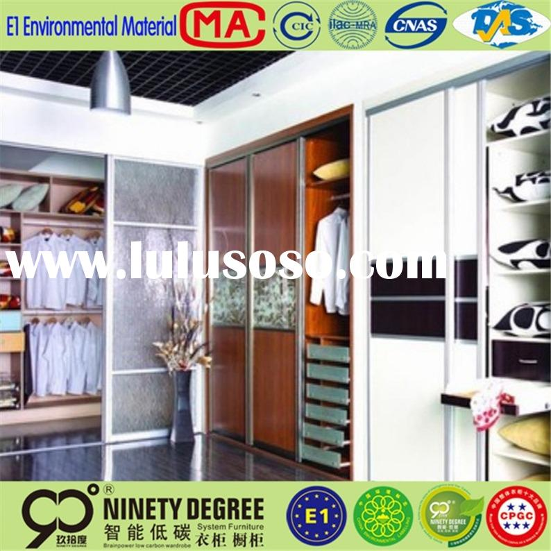 Hot Sale Customized french style white bedroom furniture of wooden wardrobe