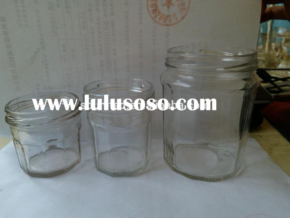 Hot sale wholesale 50ml empty mini glass jam jar with mental screw lid
