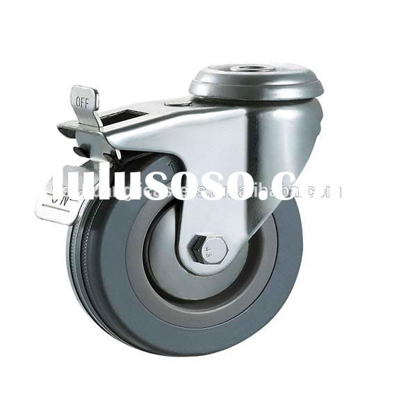 Locking industrial casters rubber wheels