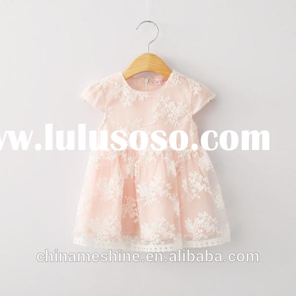 MS64069C lace cotton fashion 2015 new design dress baby frock designs