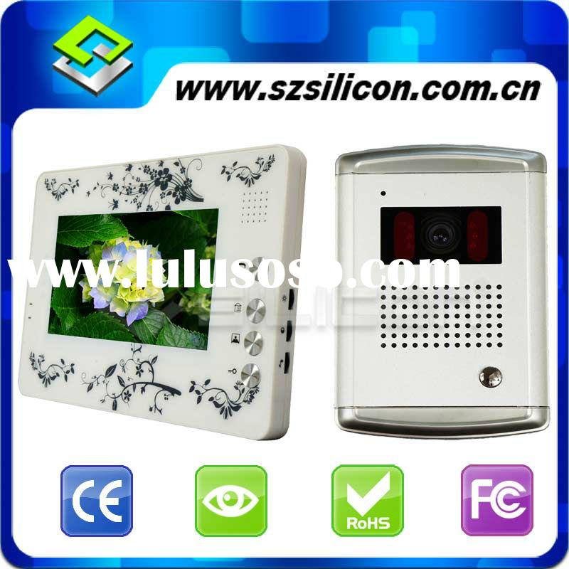 Security systems for home 7 inch wired best video intercom