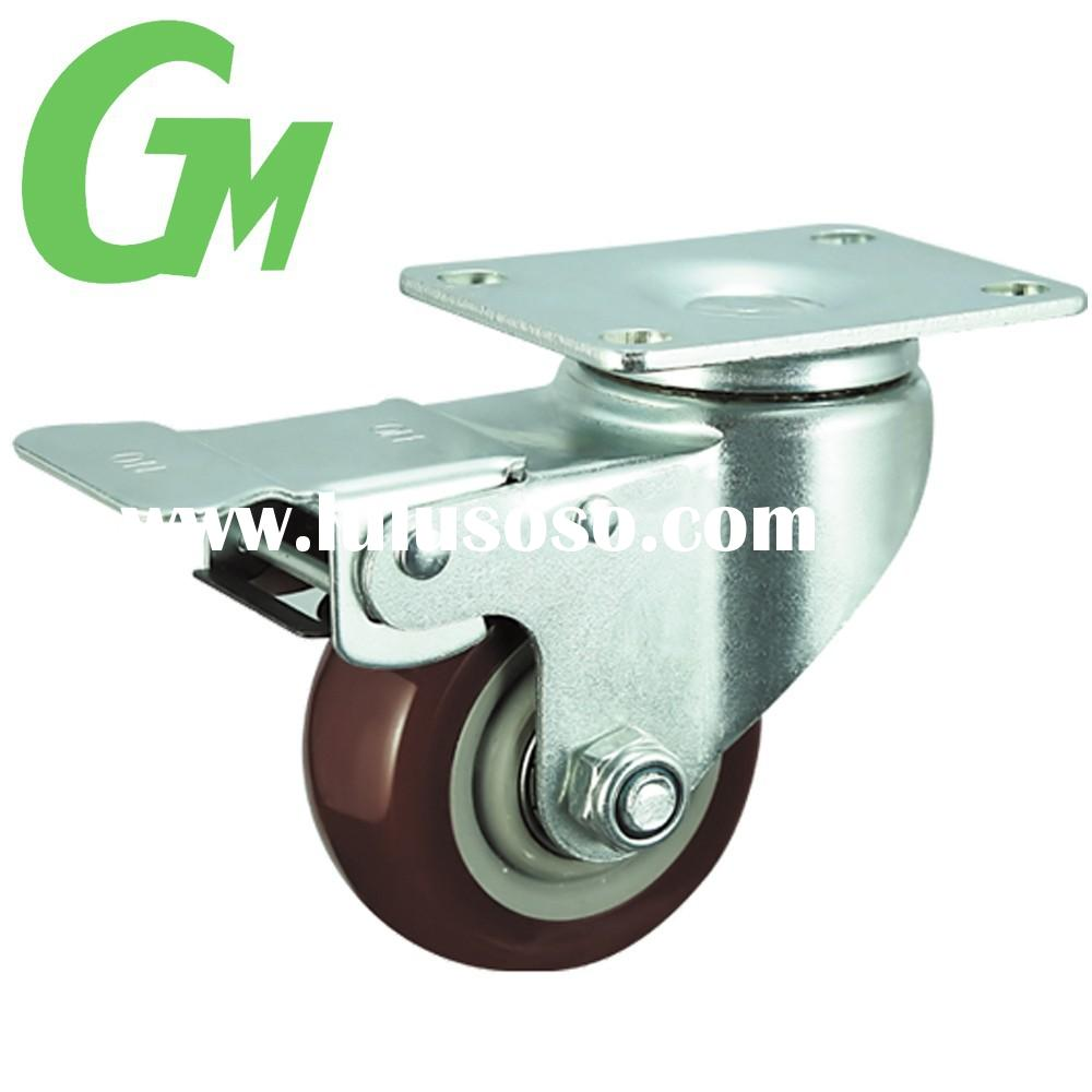 W25PQ Industrial red locking caster wheels