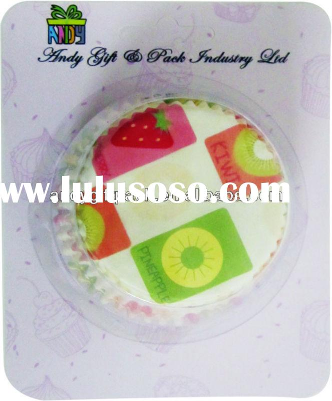 Wholesale cheap cupcake packaging lemon cute design paper baking cups for cupcake