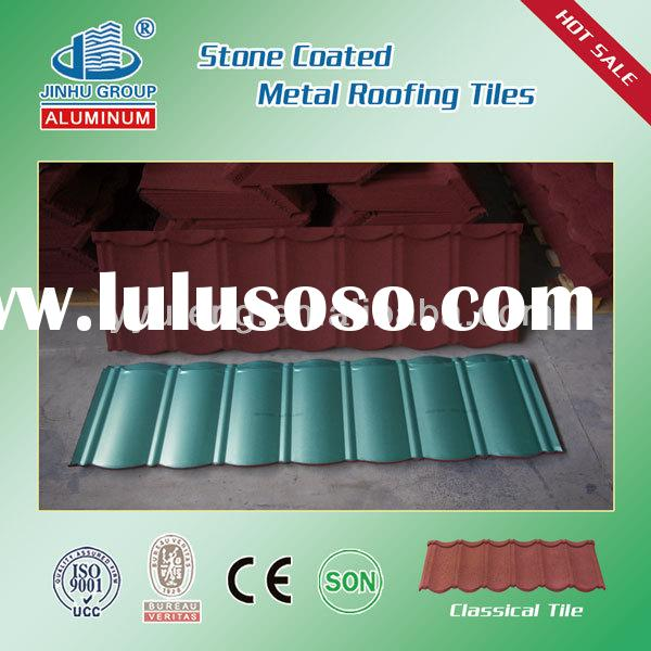 colorful metal roofing sheets prices/stone coated steel roofing tiles made in china