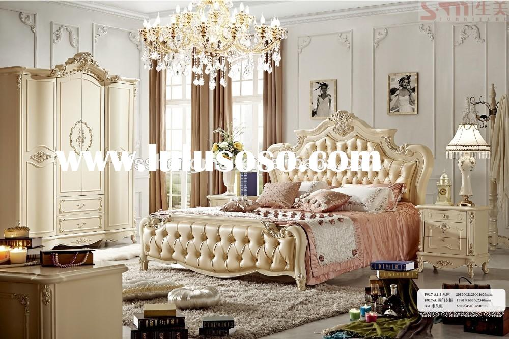 hot sale french style adult bedroom set king size home furniture
