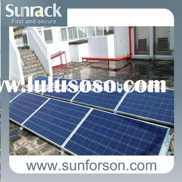 solar panel flat roof triangular mounting system