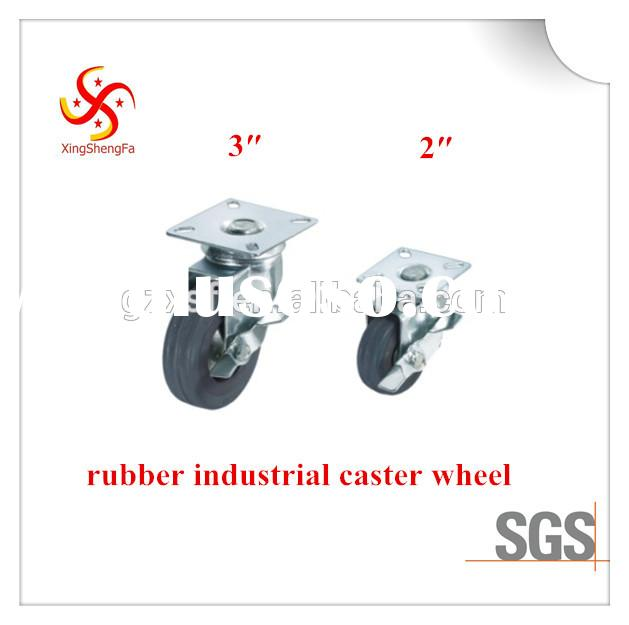swivel plate industrial caster wheel locking rubber caster wheels