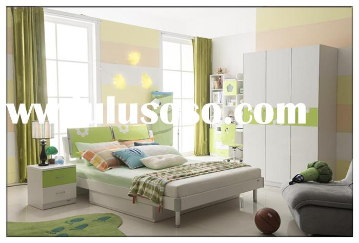 2014 nice design lovely colorful kids home bedroom furniture for boys and girl.green color