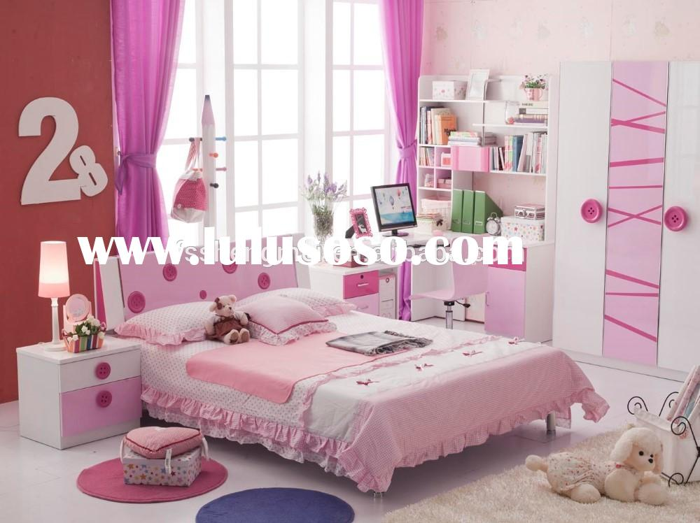 2015 nice design lovely colorful kids home bedroom furniture for boys and girl.green color
