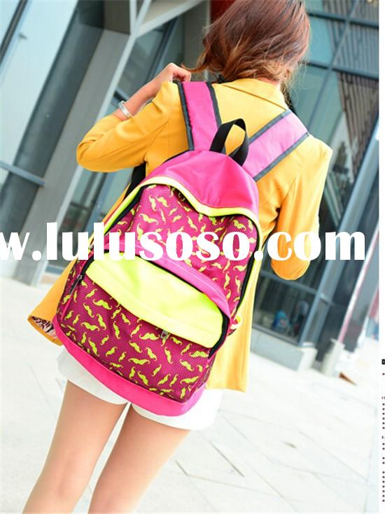 2015 wholesale book bags school bags for girls high school