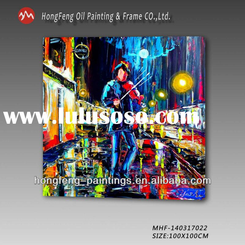 Abstract musician handmade oil painting for sale MHF-140317022
