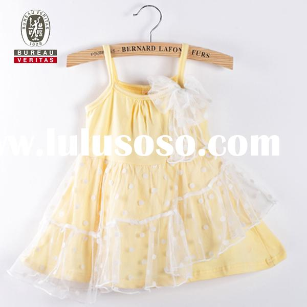 Baby girls dress for summer 2013 pure color long wedding dresses for kids