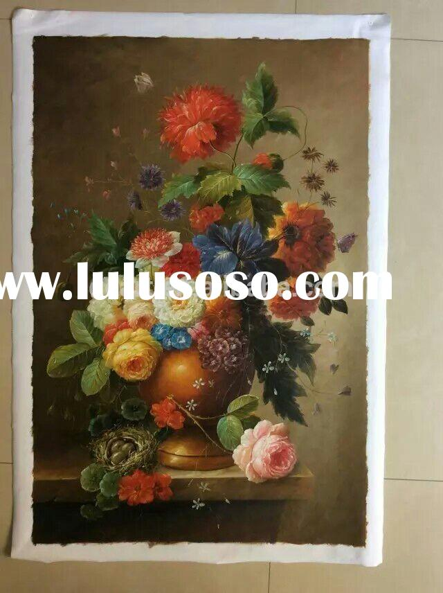 Classical Art Floral Oil Painting Canvas Art Handmade For Sale