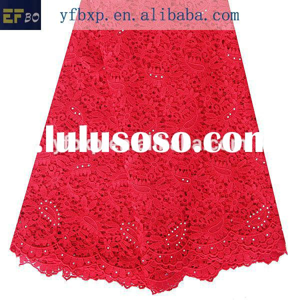 Cord lace materials latest african embroidery laces/ red new york wholesale fabric/ embellished lace