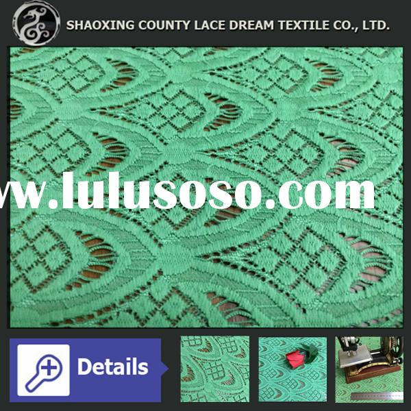 Fancy Pineapple Design African Jacquard Elastic Lace Fabric for New York Fahion Show