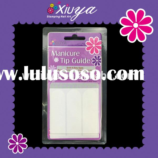 French Nail Tip Line nail art sticker nail art stamp in blister package