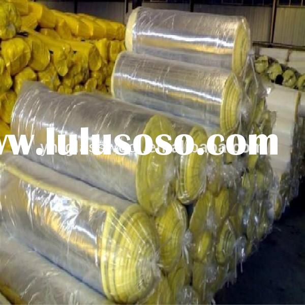 Heat insulation Fiber glass wool blanket for industry pipe insulation