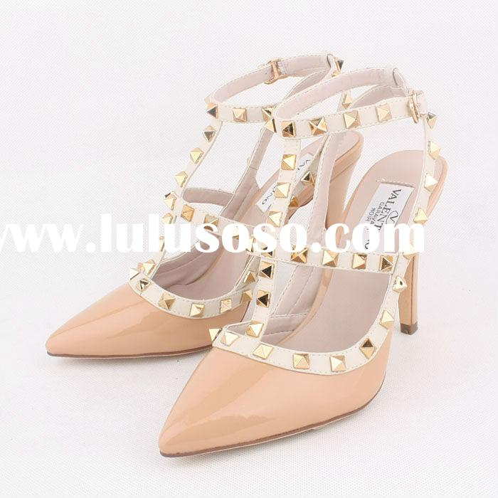 Hot sell fashion beige high heels.women sandals 2013