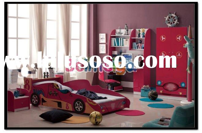 Kids Bedroom Set Red Color Kids Bedroom Furniture for Boy&Girl 350#