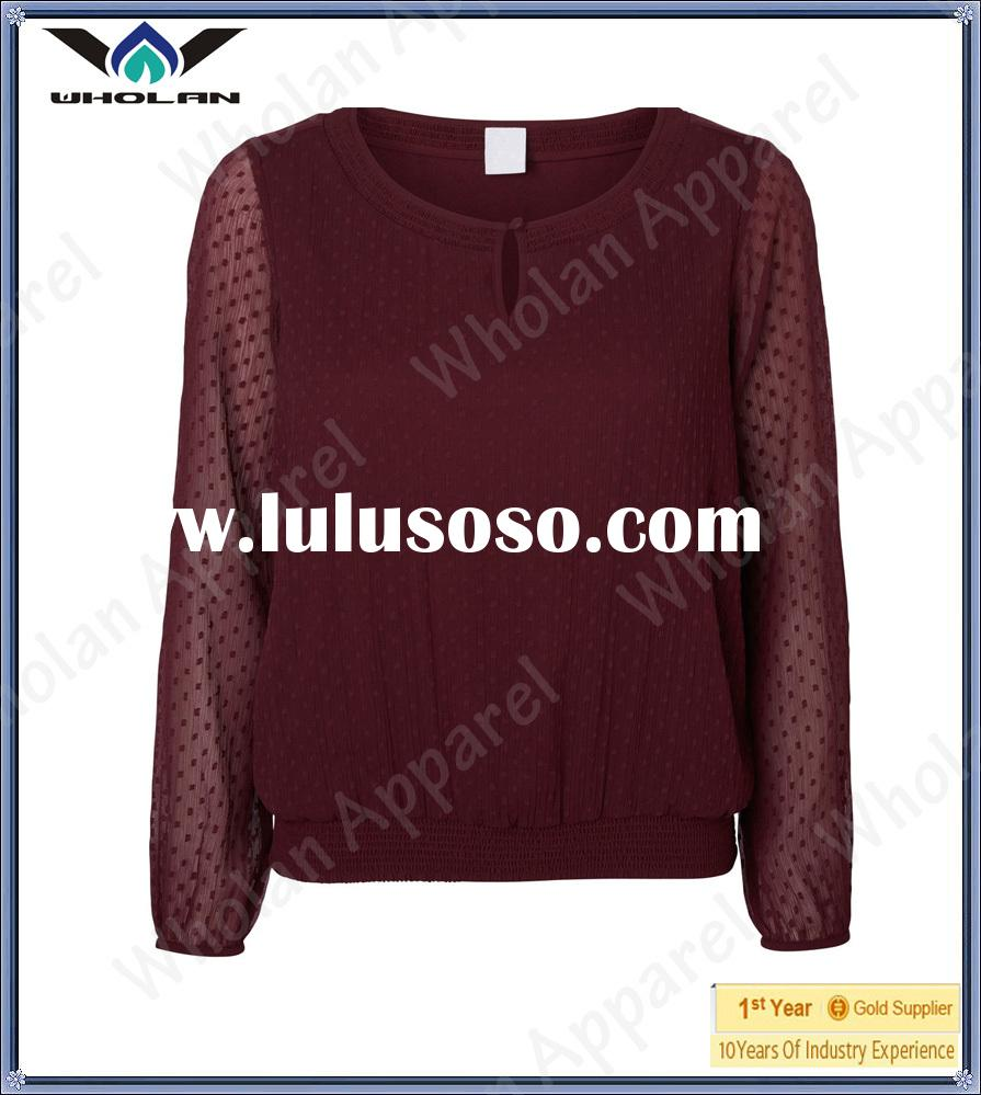 Lady casual tops fashion women blouses ladies blouses and tops