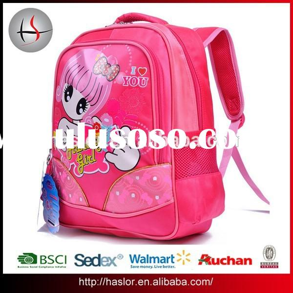 Lovely Primary Book Bag and Quanzhou School Backpack for Girl