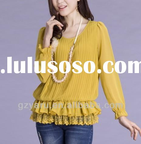 Pictures of Lady Casual Blouses and Tops